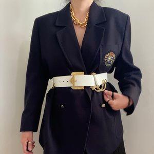 Burberrys of London 1970s Navy Equestrian Jacket